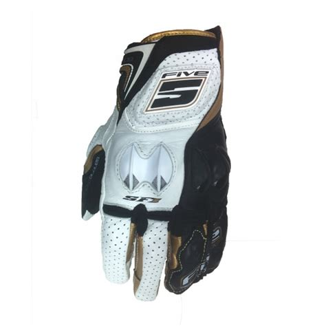 five sf 1 gloves gold white