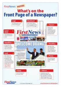 what s on a newspaper front page poster by firstnews