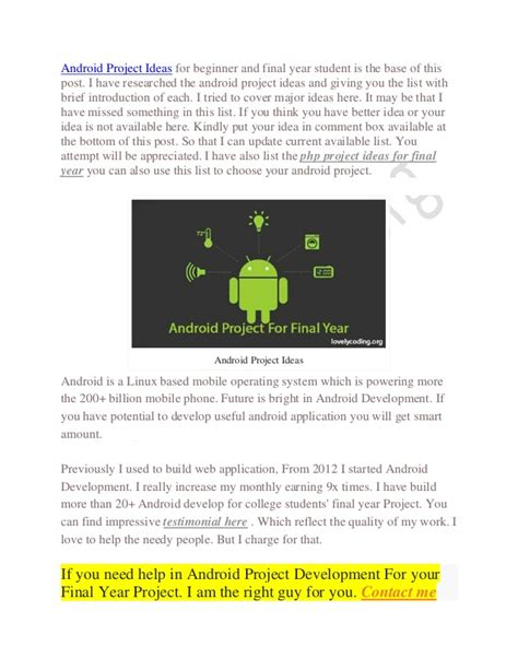 themes for android project top android project ideas for final year