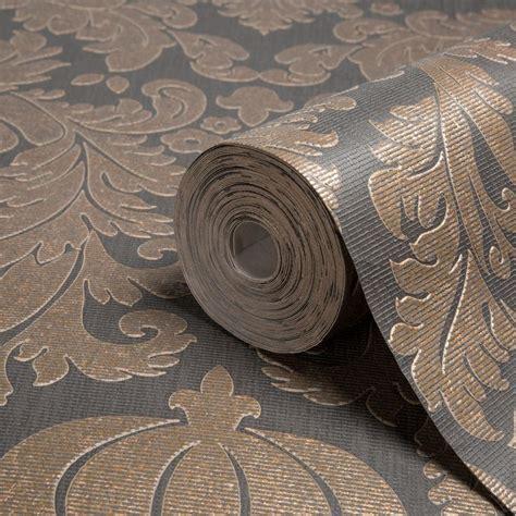 grey wallpaper diy com midas black copper wallpaper departments diy at b q