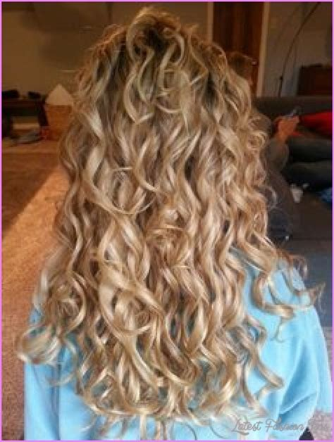 hair how to loosen perm spiral curl perm for long hair latestfashiontips com