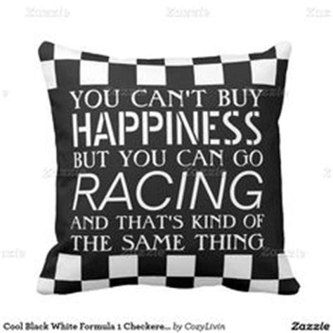 race car zimmer dekor cool black white formula 1 checkered flags pattern throw