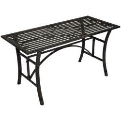 Wrought Iron Patio Coffee Table Charles Bentley Wrought Iron Coffee Table Outdoor Patio