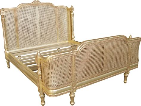 rattan bed provencal rattan bed in antique gold