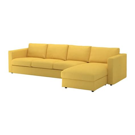 4 seater sofa with chaise vimle 4 seat sofa with chaise longue orrsta golden