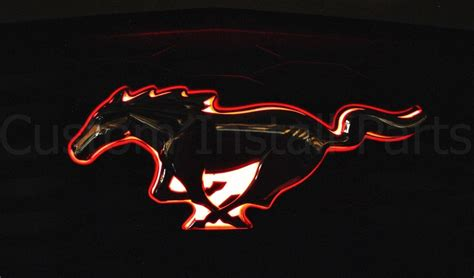 2010 2014 Ford Mustang Pony Led Light Up Red Emblem Front