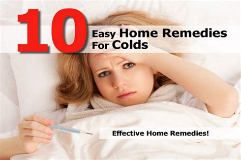 10 easy home remedies for colds