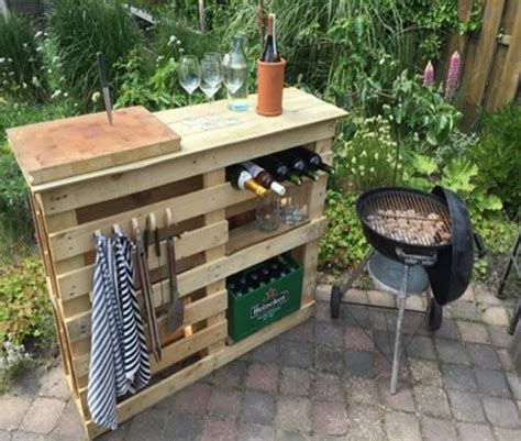 diy bbq bench diy bbq side table with pallets pallet ideas recycled