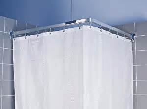 Chrome flexible corner bath shower curtain rail track amazon co uk