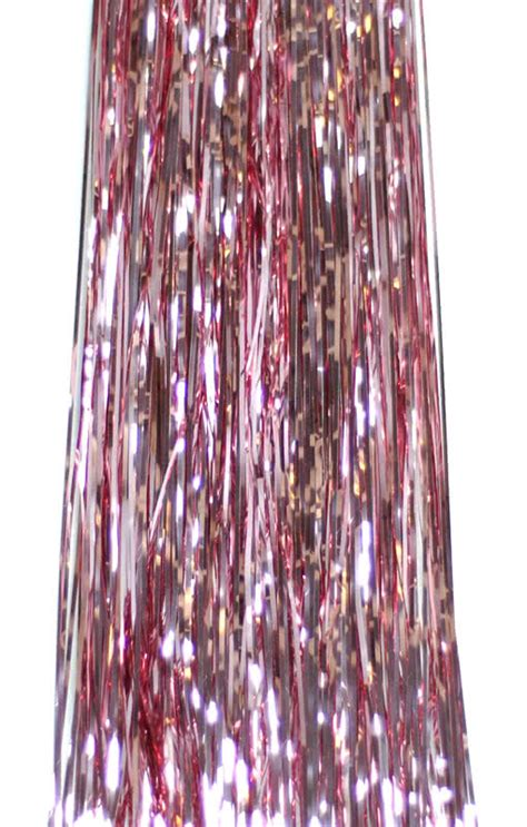 foil tinsel lametta light pink have a beautiful