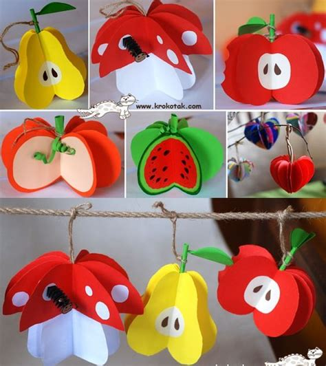 How To Make Fruit Out Of Paper - wonderful diy paper fruit ornaments chang e 3 tutorials