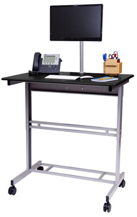 standing desk on wheels mobile standing desk on wheels