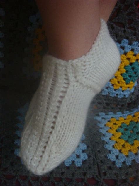 knitted slippers pattern with two needles knitting needles knitting and sock knitting on