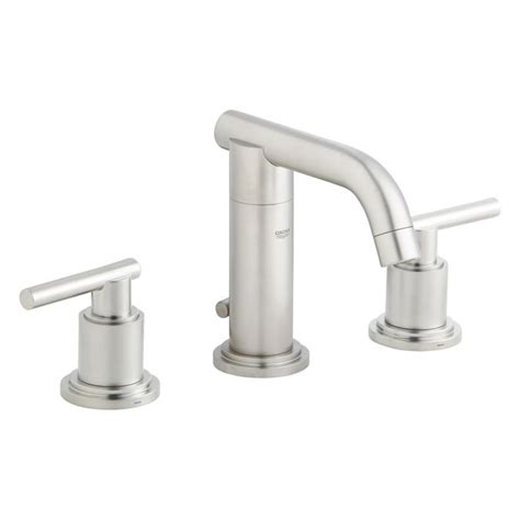 Shop Grohe Atrio Brushed Nickel 2 Handle Widespread Grohe Bathroom Faucets Brushed Nickel