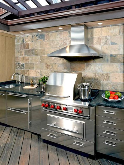 Outdoor Kitchen Stainless Steel Cabinets Stainless Steel Outdoor Kitchens Steelkitchen