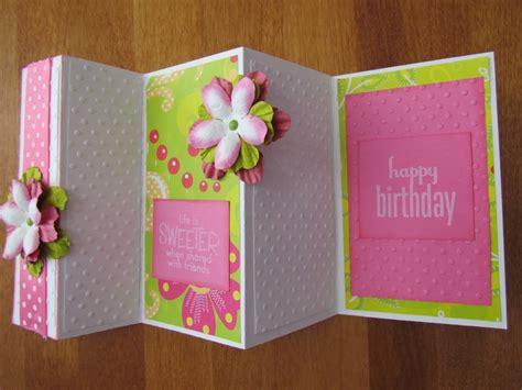 how to make a tri fold card birthday tri fold card