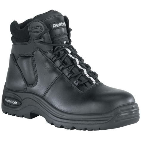 s 6 quot reebok 174 composite safety toe sport boots black