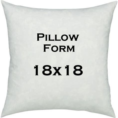 18 Quot X 18 Quot Pillow Form Cushion Insert Made In Canada - pillow insert 18x18 inches pillow form cushion insert