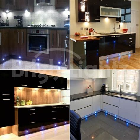 Spot Lights For Kitchen Set Of 10 Led Deck Lights Decking Plinth Kitchen Lighting Set Blue 45mm