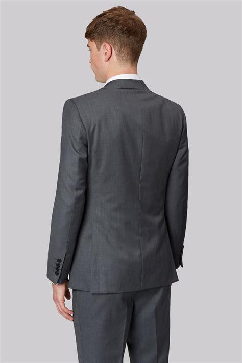 Plain Slim Fit connection slim fit plain grey jacket