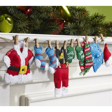 shop plaid bucilla 174 seasonal felt home decor santa