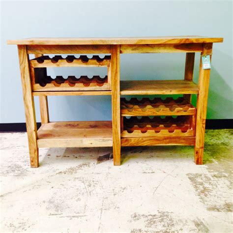 side table with wine rack nadeau raleigh