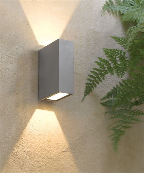 ledlux vice 6w square up wall bracket in silver