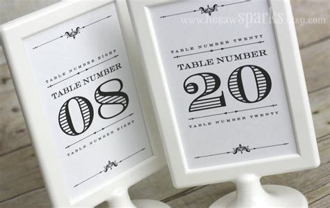 Wedding Table Number Ideas Diy Wedding Ideas For Budget Savvy Brides Table Numbers Onewed