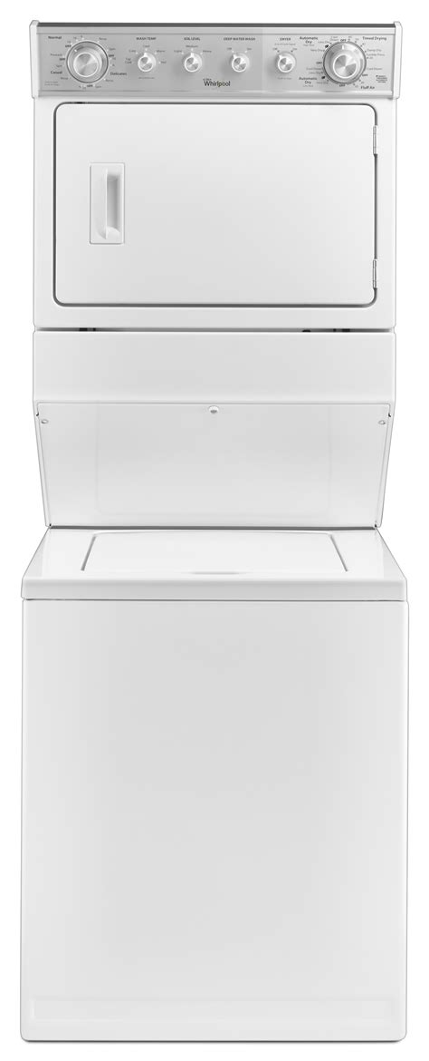 "Whirlpool WGT4027EW 27"" Full-Size Gas Stacked Laundry Unit"