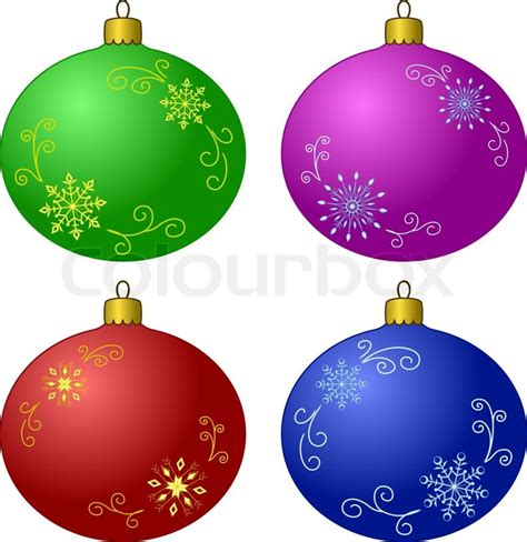 decoration balls vector christmas tree decoration set glass balls with