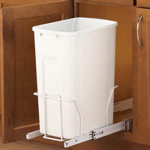 Kitchen Trash Can Cabinet Pull Out Cabinet Trash Can 35 Quart In Cabinet Trash Cans