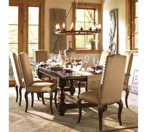 Pottery Barn Dining Room Lighting Stanton Leaf Cup Indoor Outdoor Chandelier Pottery Barn