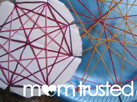 Geometry String Project - easy geometric string for preschoolerspreschool