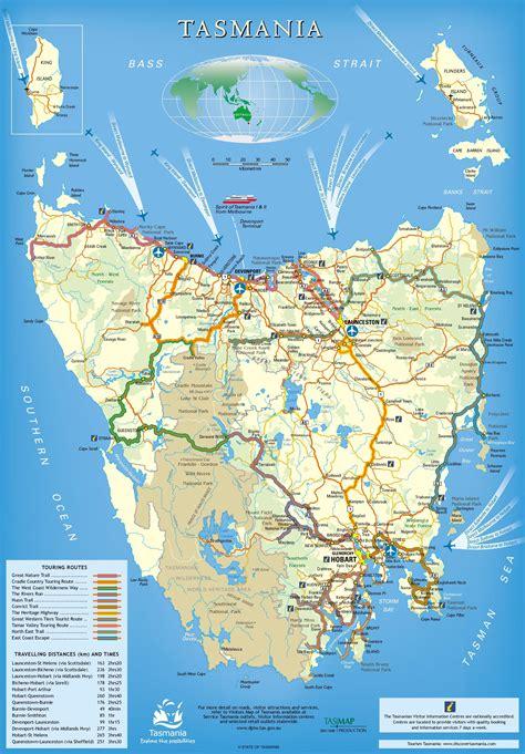 printable road map of tasmania image gallery tasmania map