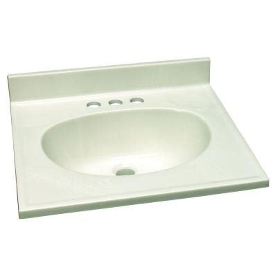design house 25 in w cultured marble vanity top with