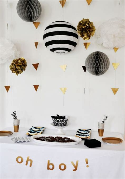 Black And White Themed Baby Shower by 37 Modern Baby Shower D 233 Cor Ideas That Really Inspire