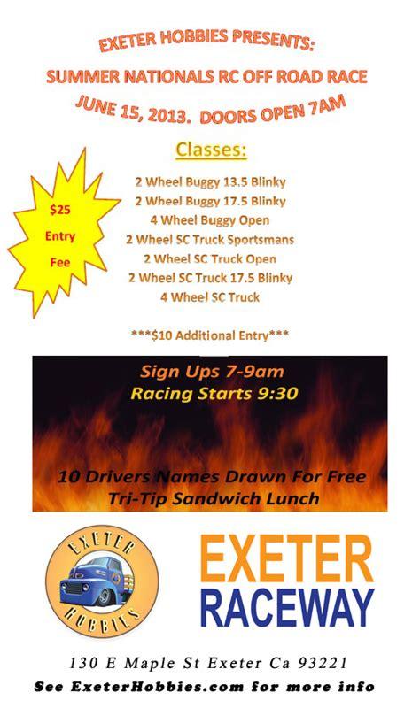 Calendar Shop Exeter Exeter Hobbies 2013 Summer Nationals June 15th Exeter