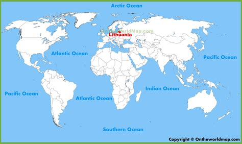 lithuania location on world map lithuania location on the world map