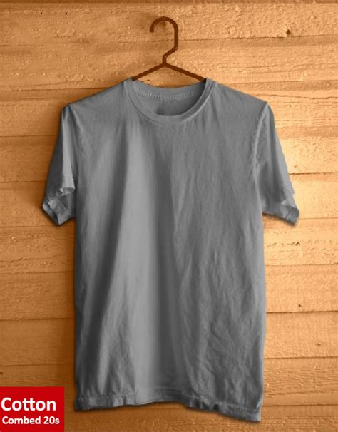 jual kaos polos abu abu terang catton combed 20s bigfashion