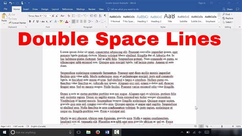 how to space lines in microsoft word easy tutorial