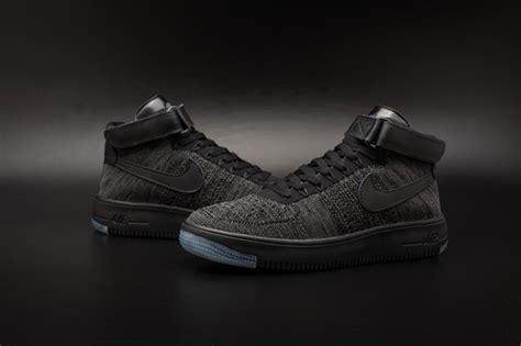 xu shoes nike air one af1 ultra flyknit mid qs black grey