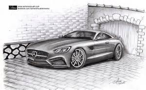 How To Draw A Mercedes Sls Amg Mercedes Gt Amg By Sofianetouati On Deviantart