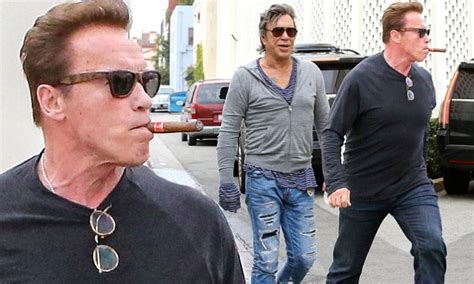 arnold schwarzenegger lunches with mickey rourke daily arnold schwarzenegger lunches with mickey rourke