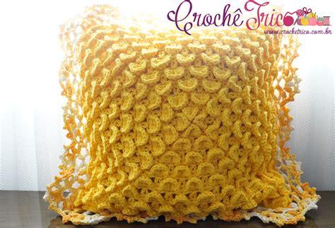 capa de almofada de barbante croch 234 tric 244 almofada escamada