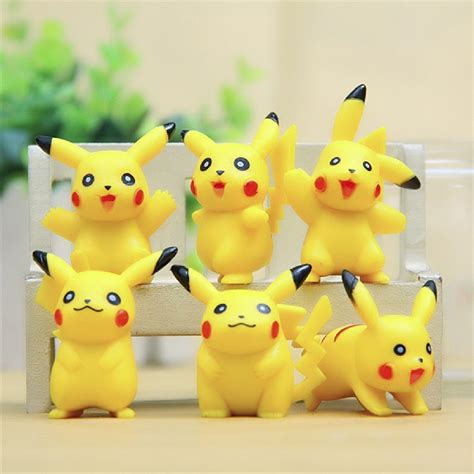 Figure Pikacu Pikachu Isi 4 go pikachu mini figure doll set