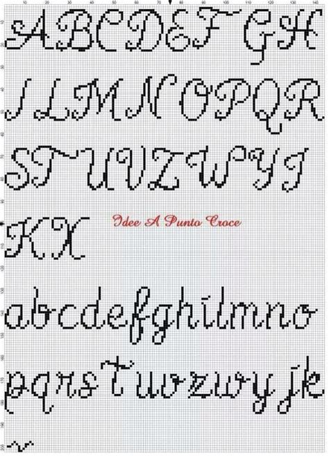 lettere a punto croce in corsivo corsivo 2 alfabeto punto croce fonts