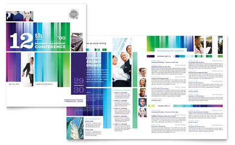 template for program booklet for event business leadership conference brochure template word