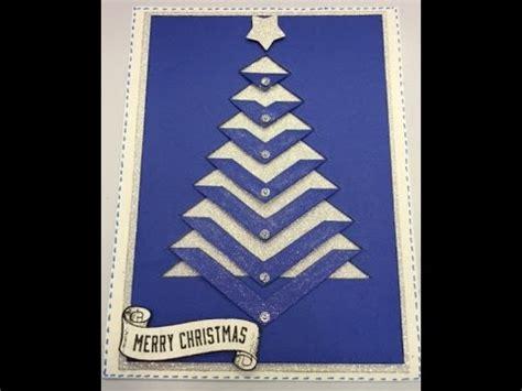 christmas tree card  template youtube