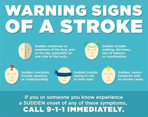 signs your had a stroke 479 best stroke awareness images on
