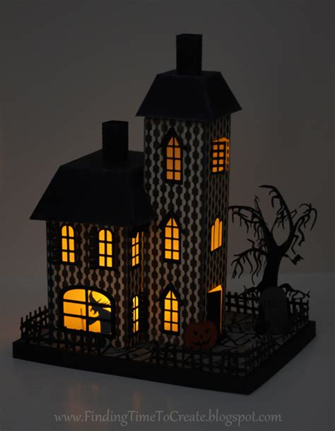 printable haunted house craft 3d haunted house assembly tutorial finding time to create